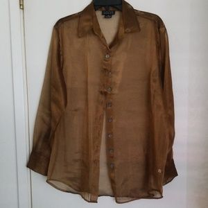 Bronze blouse